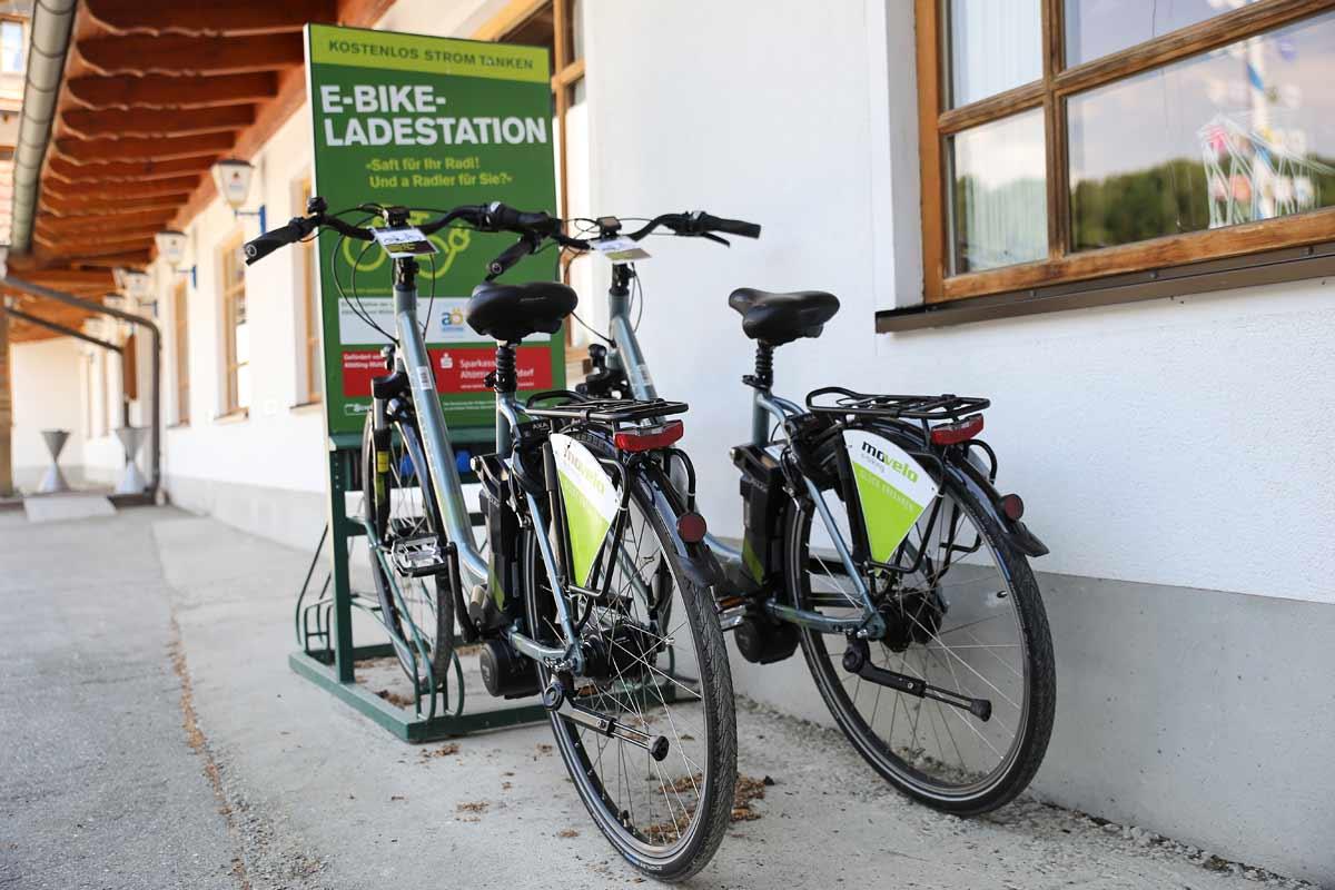 E-Bike-Ladestation beim Landgasthof Pauliwirt